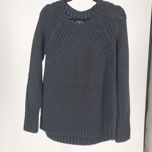 Black Chunky Cable Knit Sweater Size M